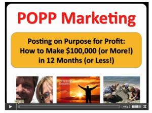 Posting on Purpose for Profits